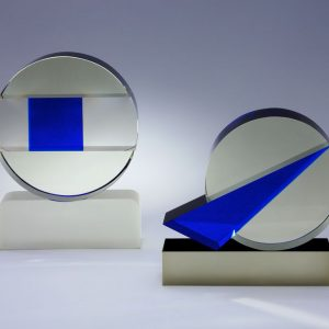 Gerd Kruft, Blauer Keil + Blaues Quadrat, 2005 - Foto Horst Kolberg